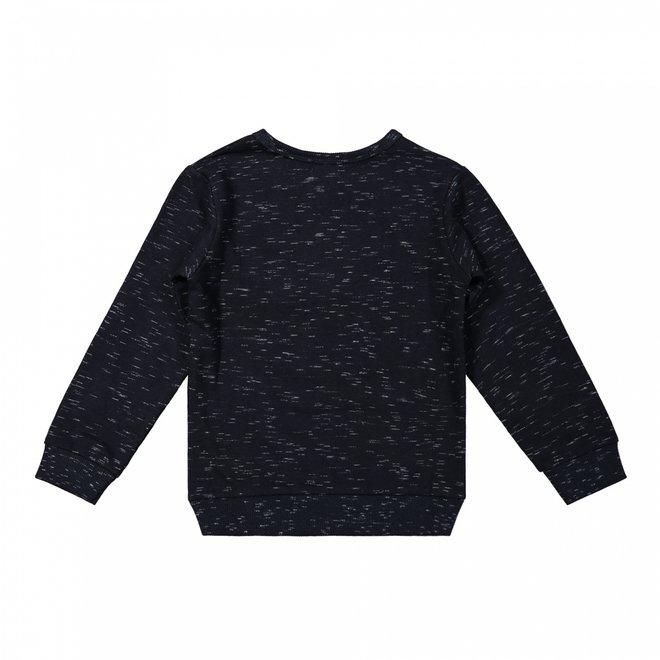 Dirkje jongens sweater zwart gemêleerd