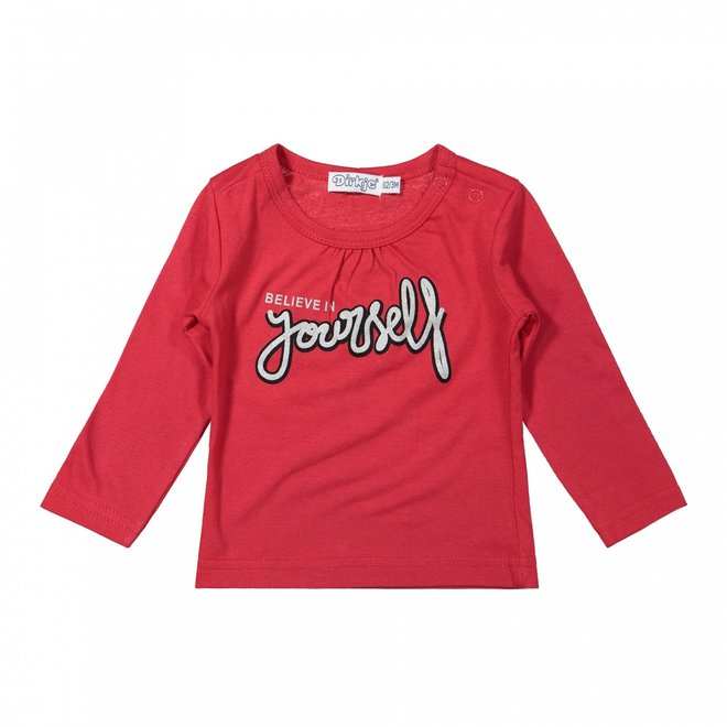 Dirkje girls baby shirt red