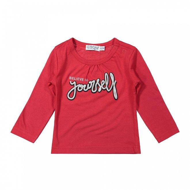 Dirkje Mädchen Baby Shirt rot