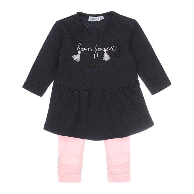 Dirkje Mädchen Baby Kleid 2 Stück marine und rosa