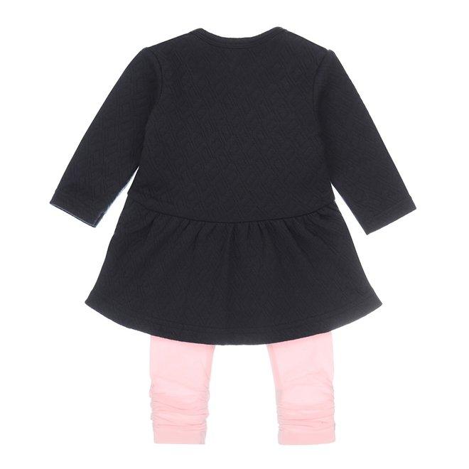 Dirkje girls baby dress 2 piece navy and pink