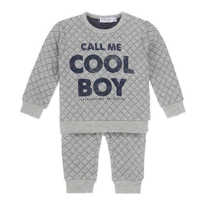 Dirkje boys 2-part baby set grey