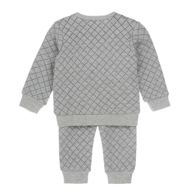 Dirkje jongens 2-delige baby set grijs