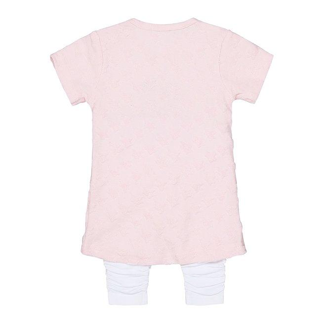 Dirkje meisjes babyjurkje 2-delig roze en wit