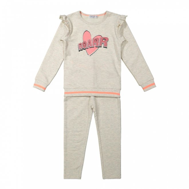 Dirkje girls 2-piece set beige melee