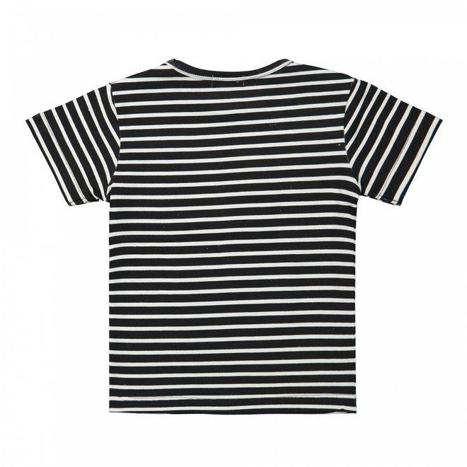Dirkje meisjes T-shirt zwart wit