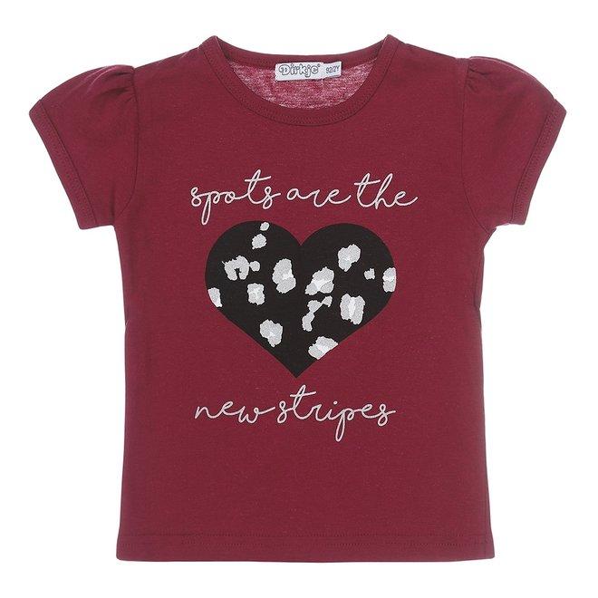 Dirkje girls T-shirt cassis