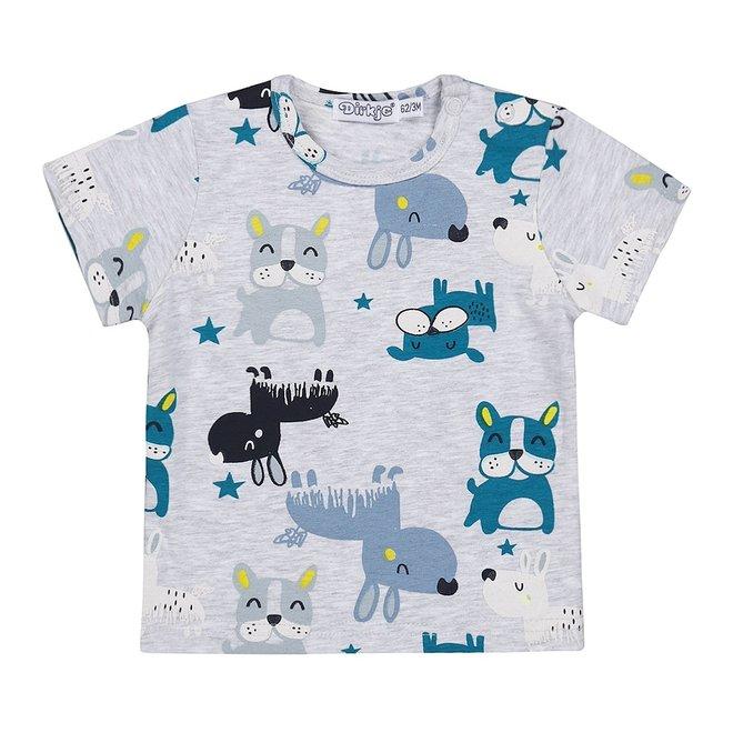 Dirkje boys baby T-shirt grey dog