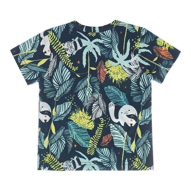 Dirkje boys baby T-shirt navy jungle