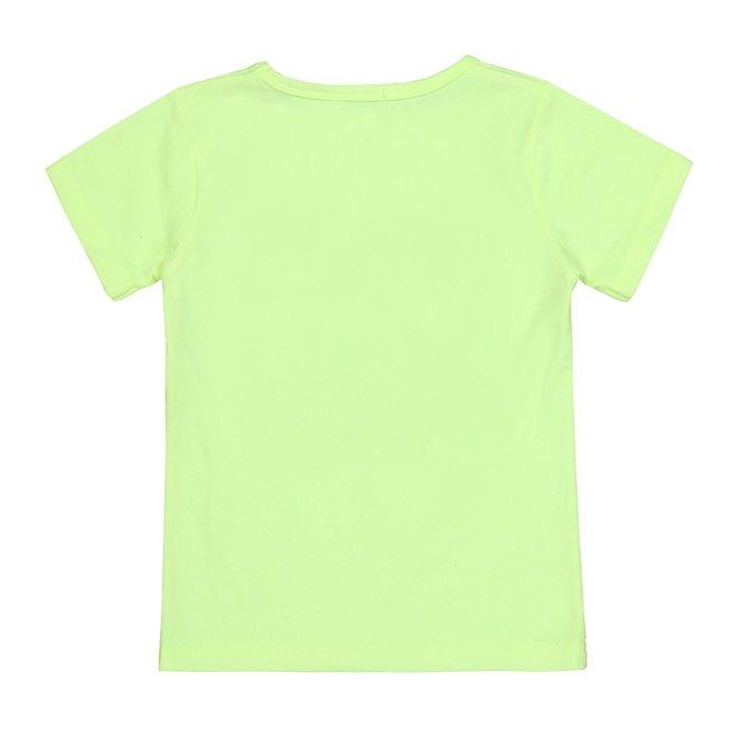 Dirkje jongens T-shirt neon lime