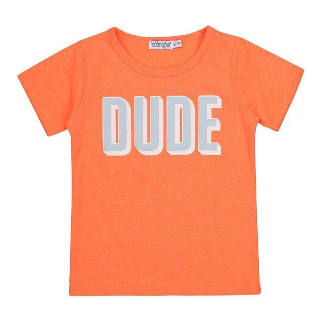 Dirkje boys T-shirt neon orange dude