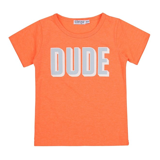 Dirkje Jungen T-shirt neon orange Kumpel