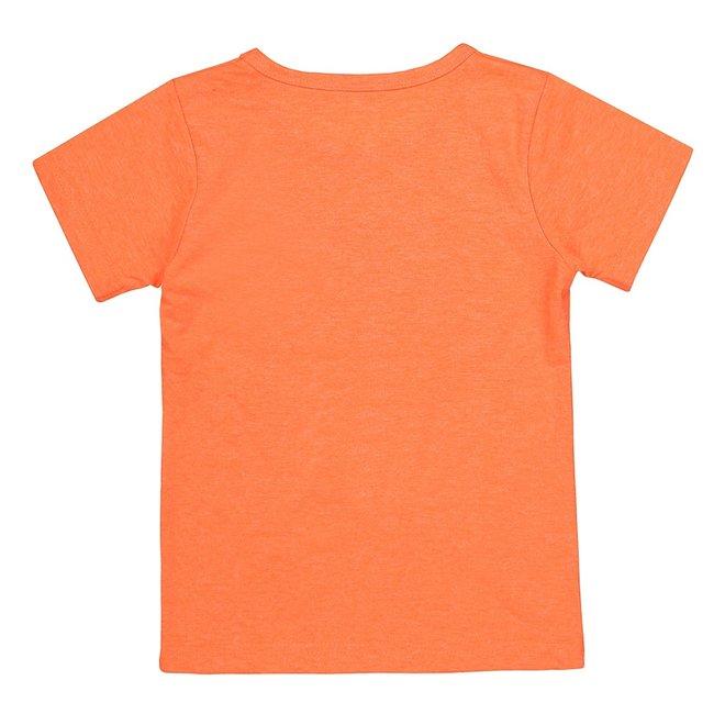 Dirkje jongens T-shirt neon oranje dude