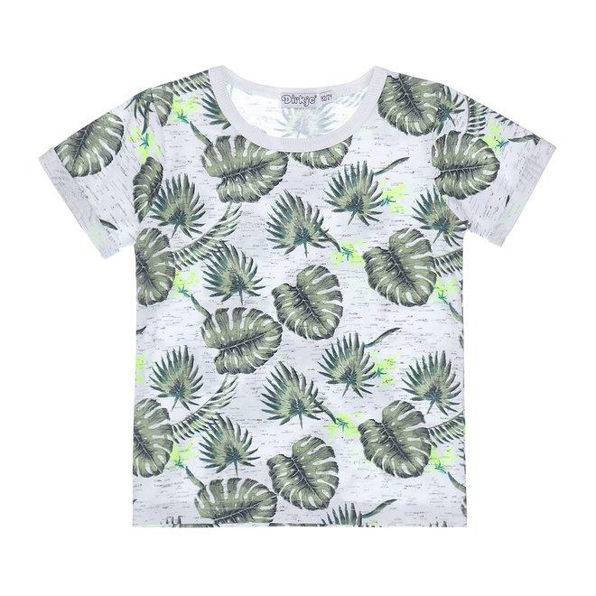Dirkje jongens T-shirt wit groen