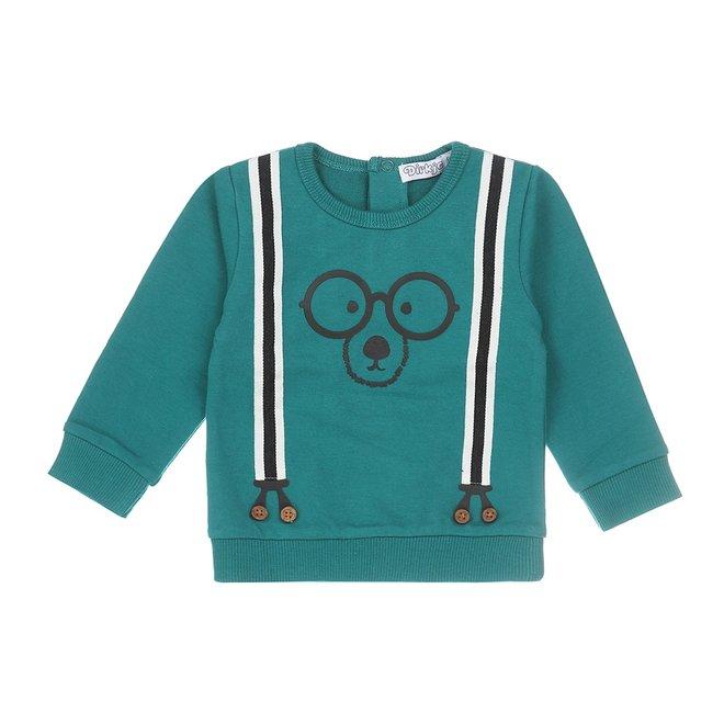 Dirkje jongens baby sweater groen