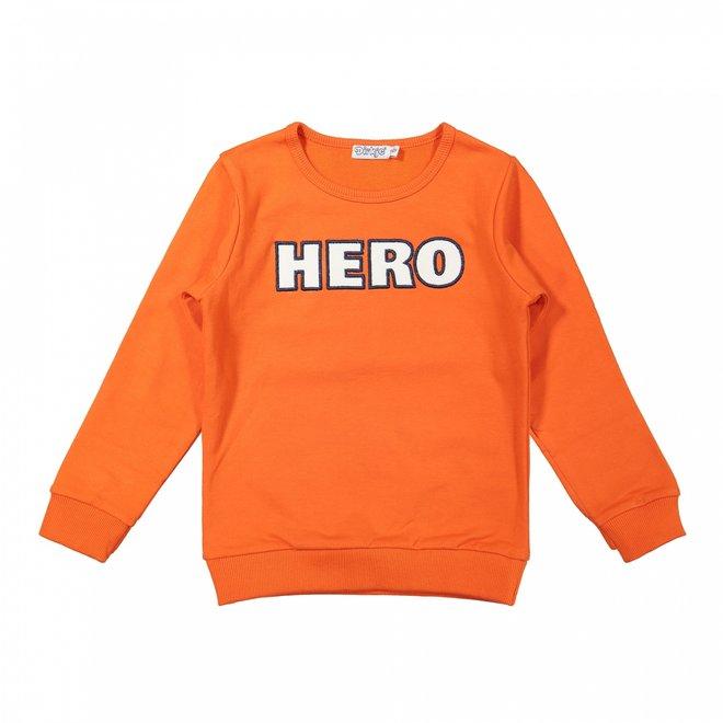 Dirkje jongens sweater oranje