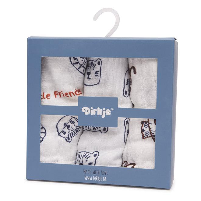 Dirkje muslin cloths set little friends