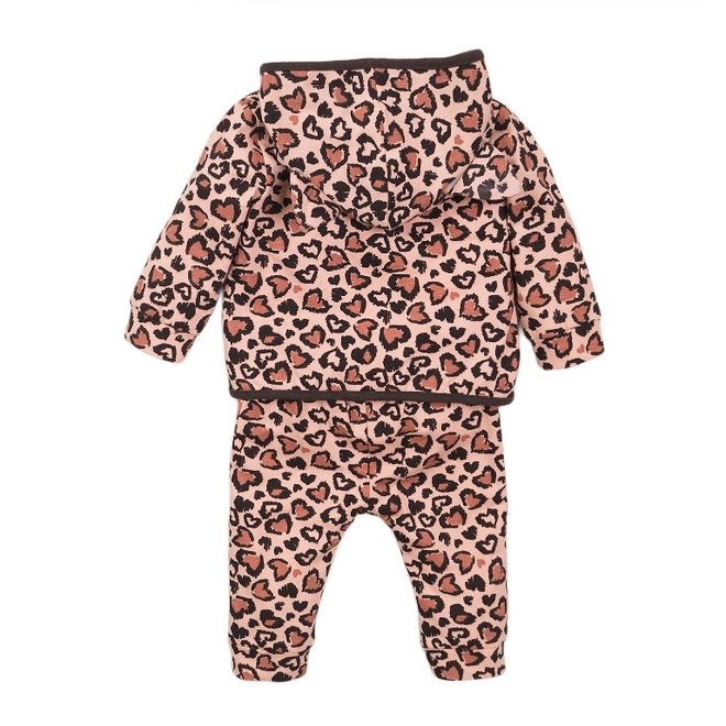 Dirkje girls baby outfit 3-piece panther pink