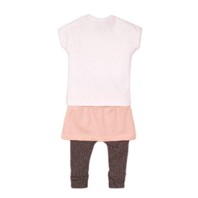 Dirkje Mädchen Baby 3-teiliges Set mit Rock weiß rosa