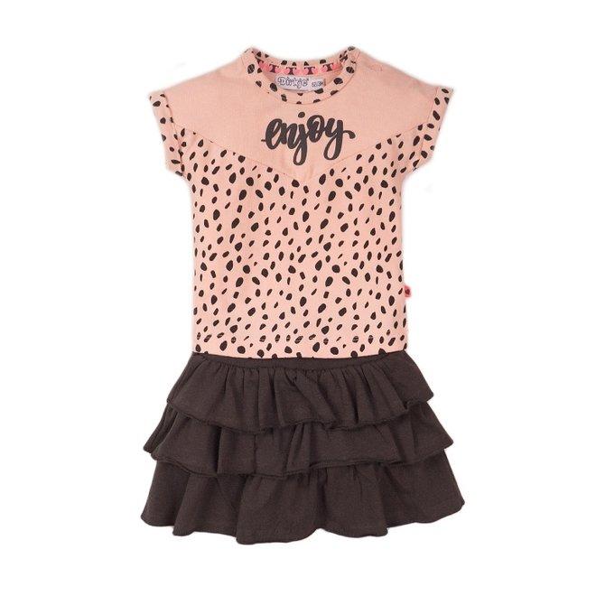 Dirkje meisjes baby 2-delig set met rok roze grijs enjoy