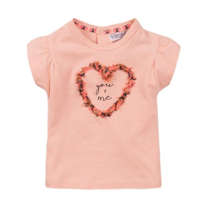 Dirkje Mädchen T-shirt rosa Herz