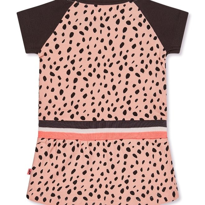 Dirkje Mädchen Kleid rosa Punkt