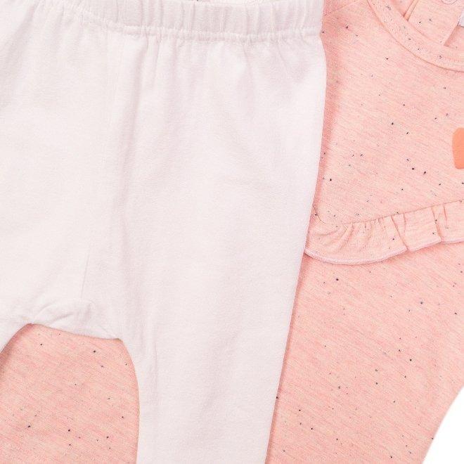 Dirkje Mädchen Baby 2-teiliges Set mit Kleid rosa Nahkampf