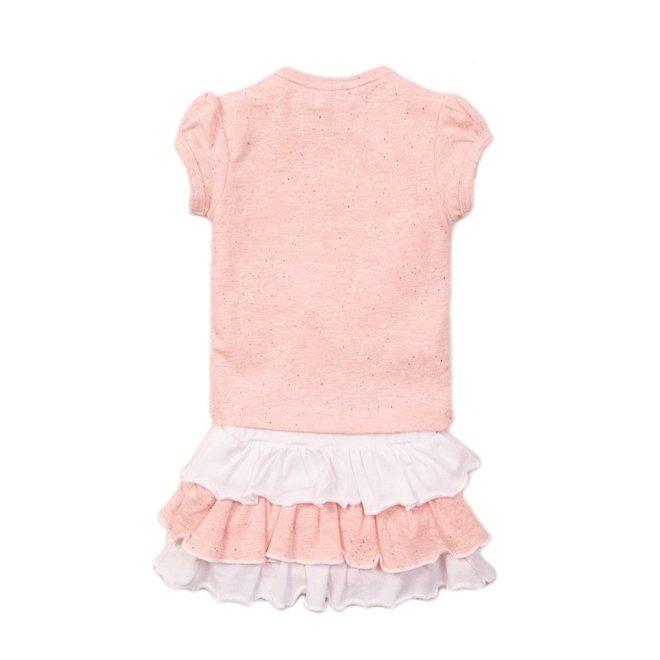 Dirkje Mädchen Baby 2-teiliges Set mit Rock rosa weiß