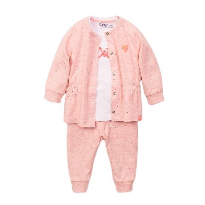 Dirkje meisjes babypakje 3-delig roze