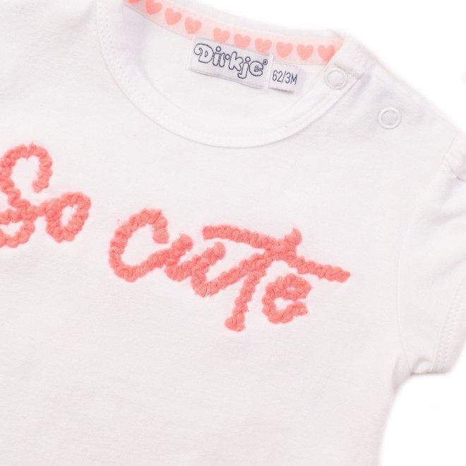 Dirkje Mädchen 3-teiliges Baby-Outfit rosa
