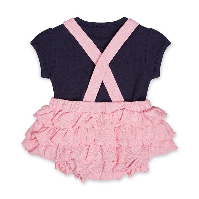 Dirkje girls baby outfit 2-piece dungarees