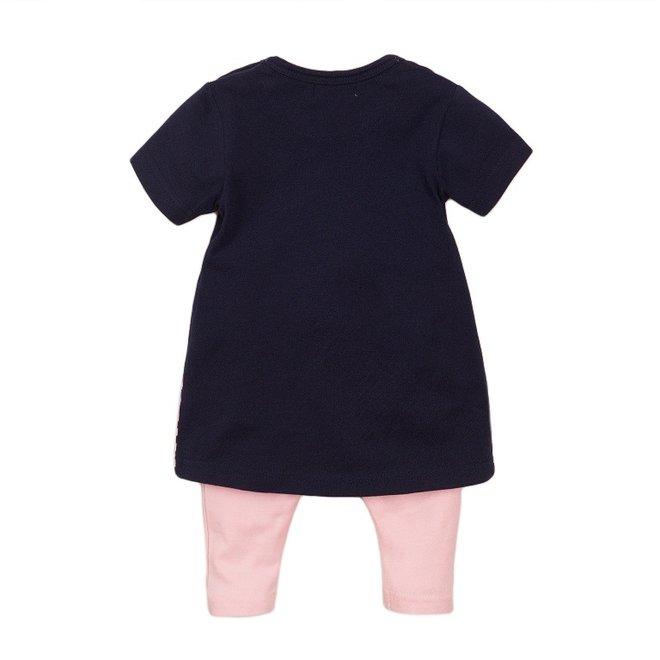 Dirkje Mädchen Baby 2-teiliges Set mit Kleid blau