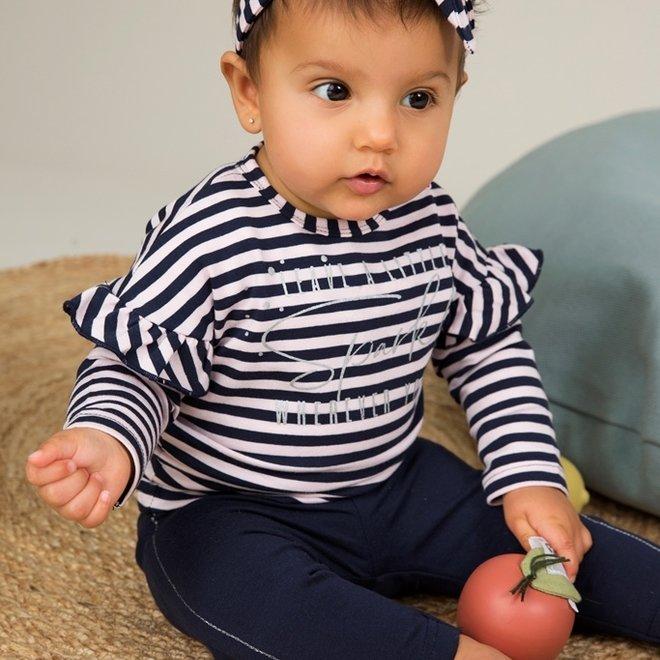Dirkje meisjes baby 2-delig set roze blauw met haarband