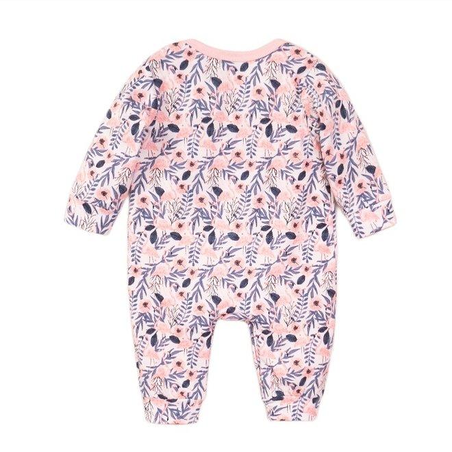 Dirkje meisjes baby pakje wit flamingo