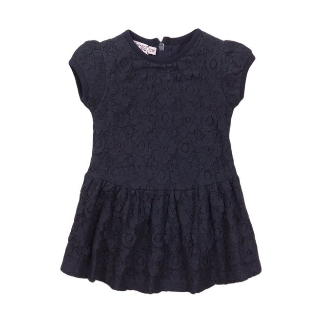 Dirkje Mädchen Kleid blau Spitze