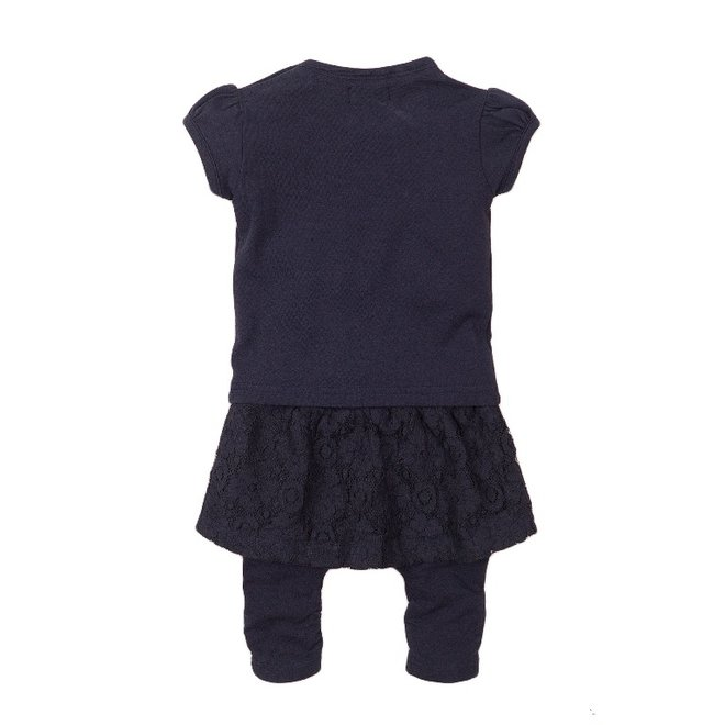 Dirkje girls baby 2-piece set with skirt blue