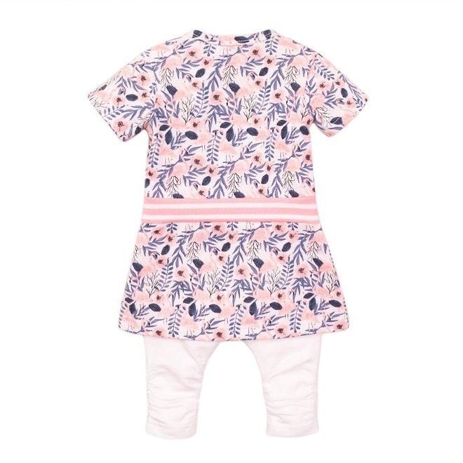 Dirkje meisjes baby 2-delige set met jurk flamingo