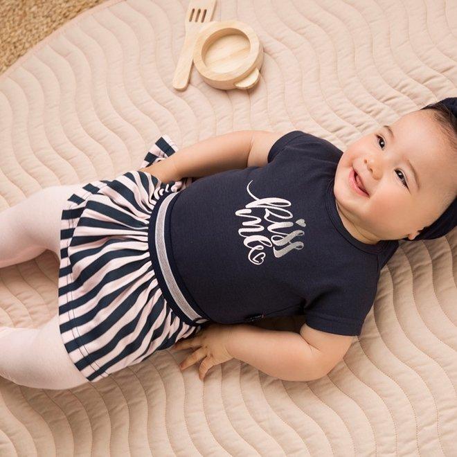 Dirkje girls dress blue stripe