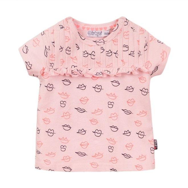 Dirkje girls T-shirt pink kiss
