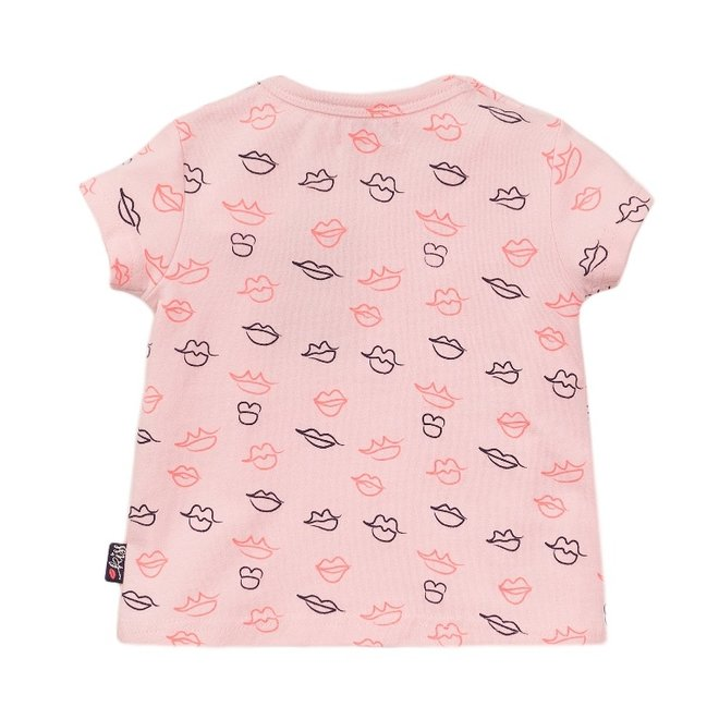 Dirkje Mädchen T-shirt rosa Kuss