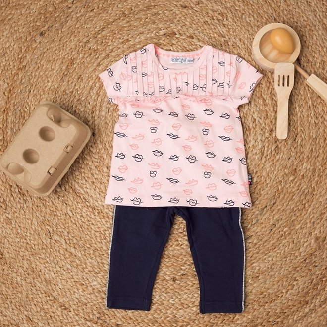 Dirkje meisjes T-shirt roze kus