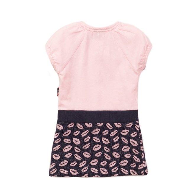 Dirkje meisjes jurk roze blauw