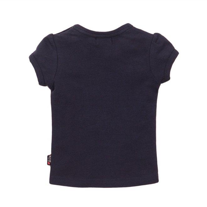 Dirkje meisjes T-shirt blauw kant