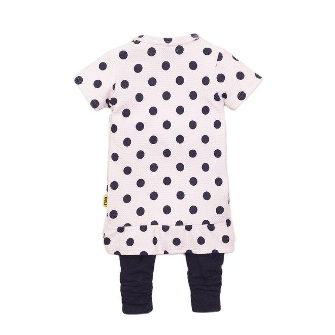 Dirkje girls baby 2-piece set with dress dots