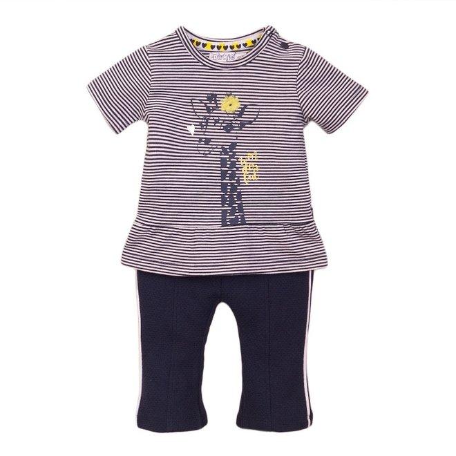 Dirkje girls baby 2-piece set with flared trousers