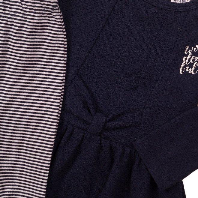 Dirkje girls baby 2-piece set with dress blue