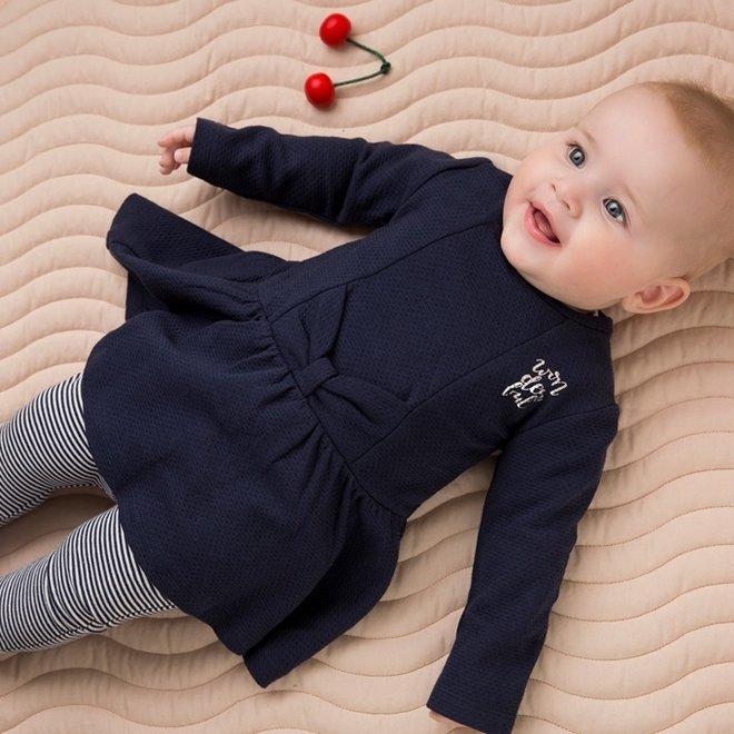 Dirkje meisjes baby 2-delige set met jurk blauw