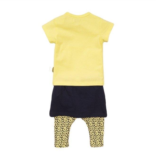 Dirkje meisjes baby 3-delige set met rok geel blauw