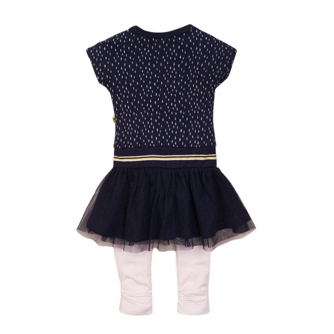 Dirkje girls baby 2-piece set dress blue