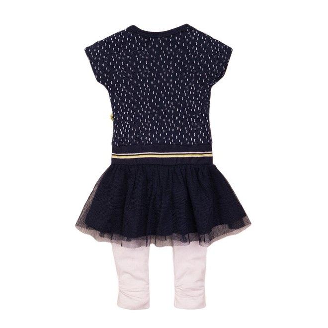 Dirkje Mädchen Baby 2-teiliges Set Kleid blau